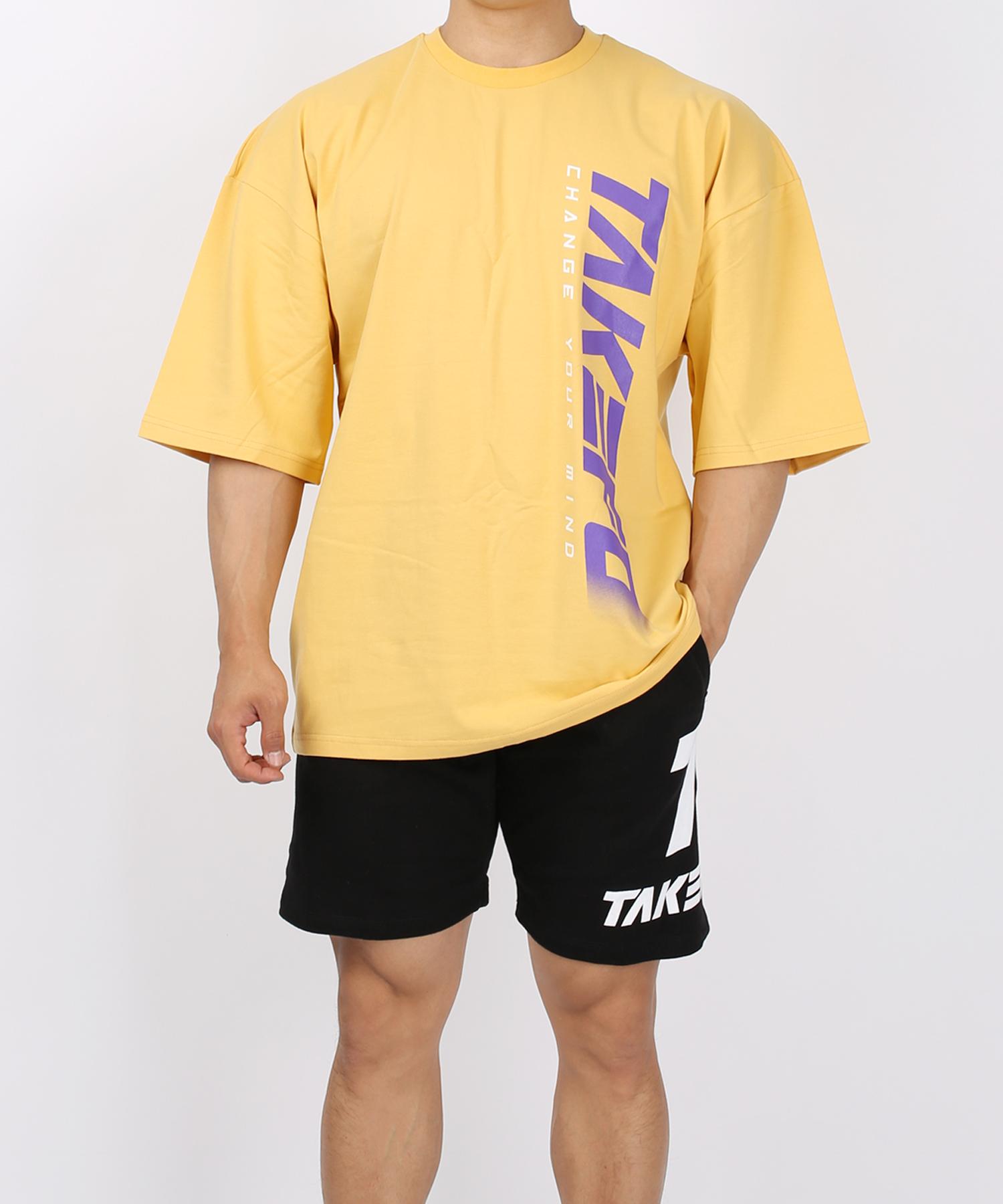 [테이크폼] 드랍 로고 반팔티 옐로우