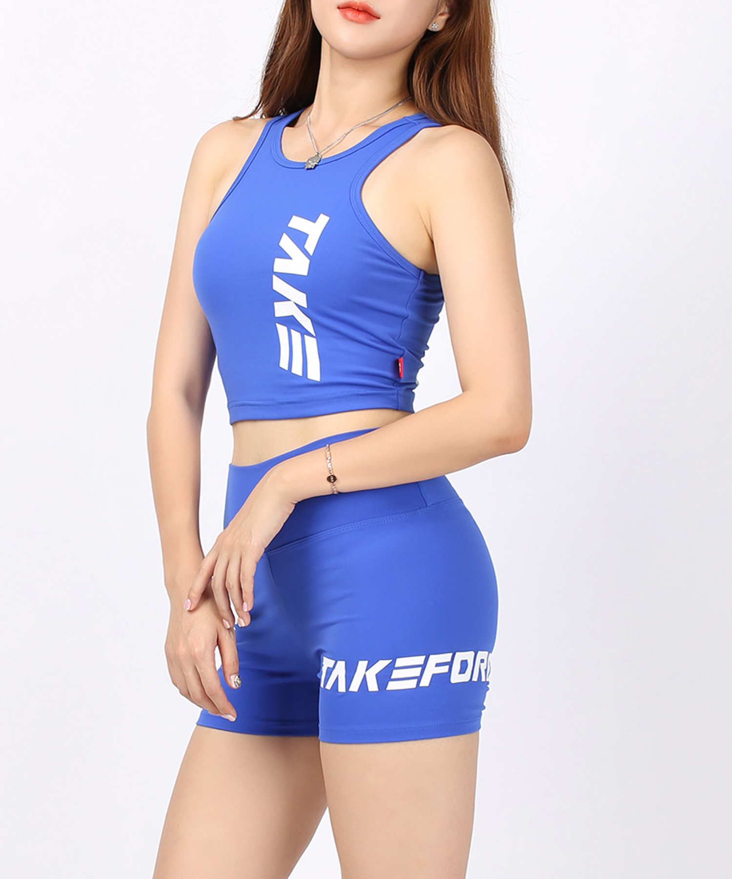 [테이크폼] 스쿼트 팬츠 블루 (여성용)
