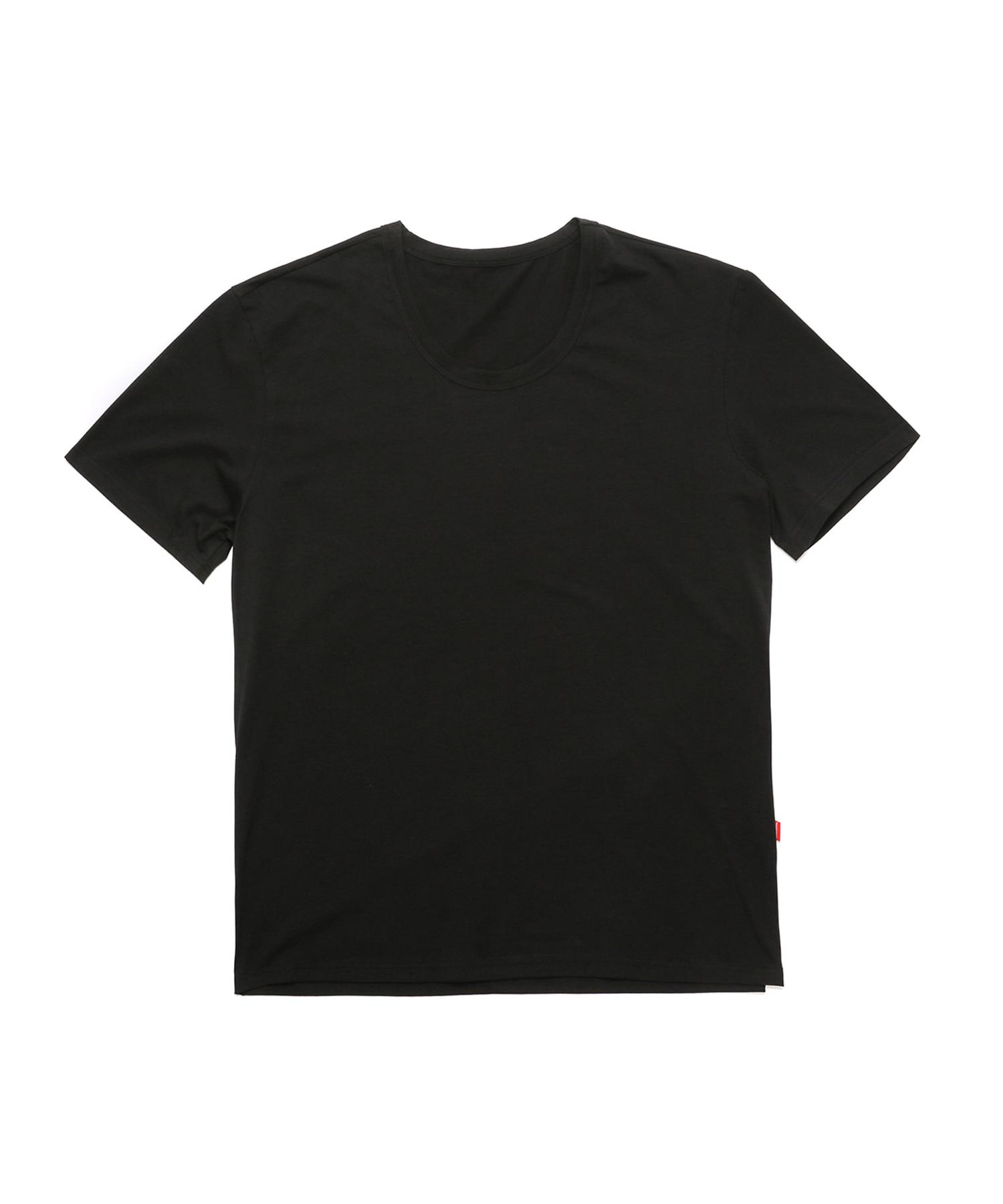 [테이크폼] U넥 루즈핏 반팔티 블랙